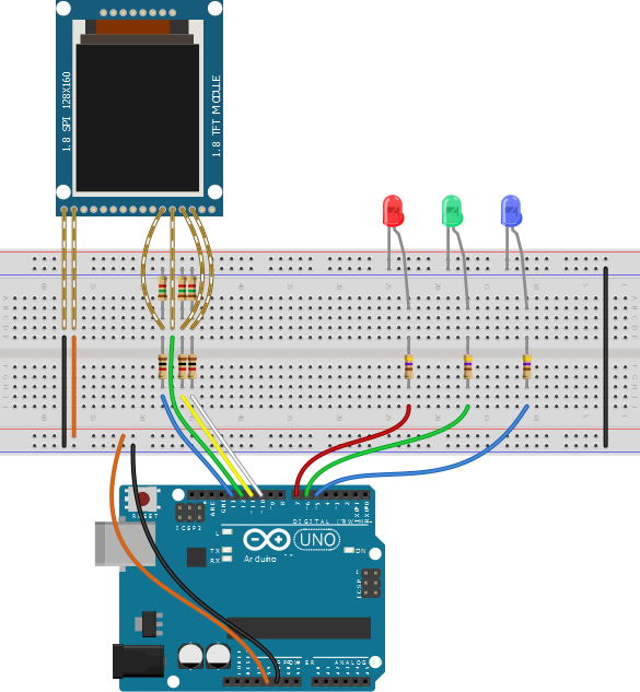 Hacked module breadboard example