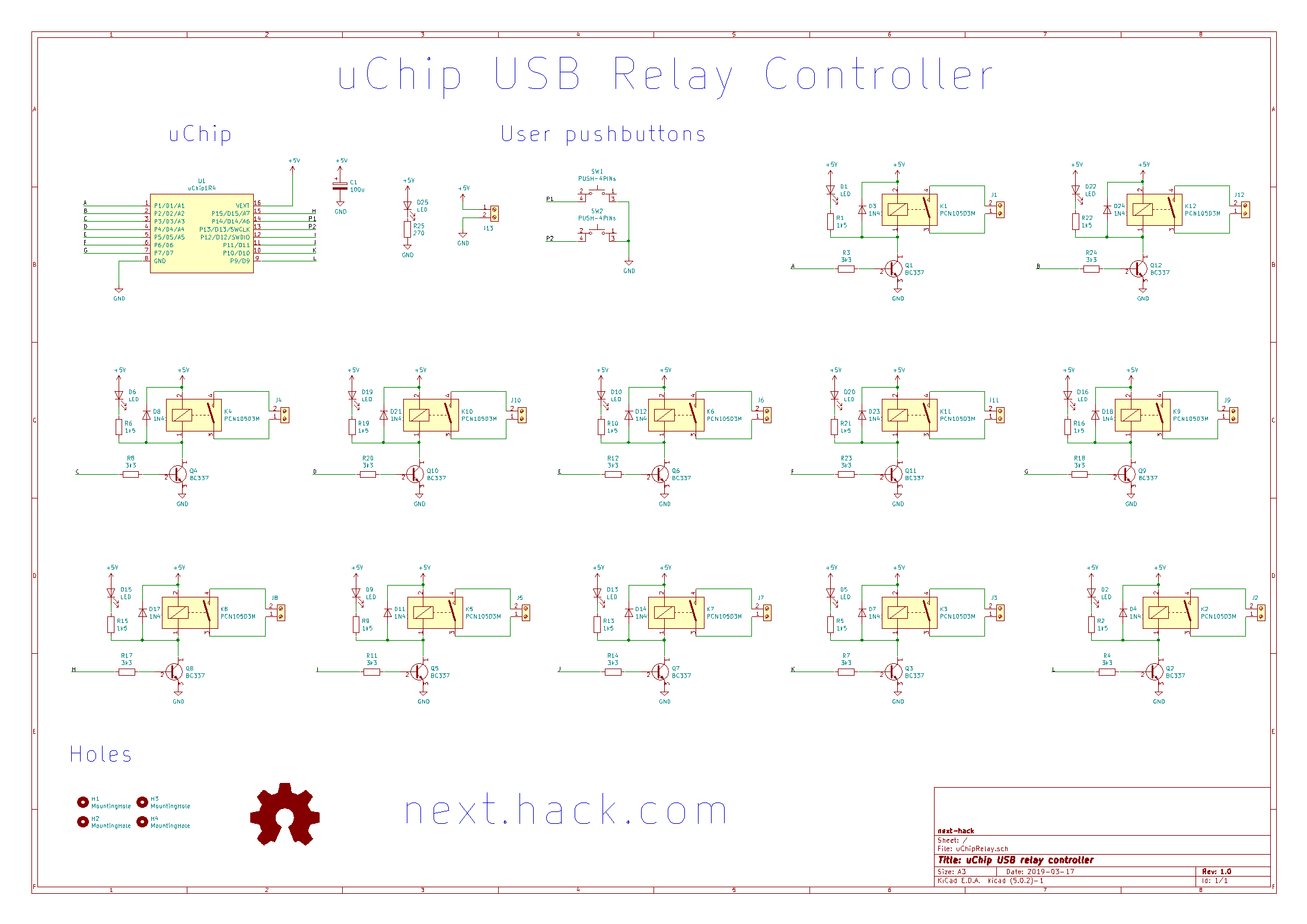 A simple 12-channel USB controlled relay board (part 1